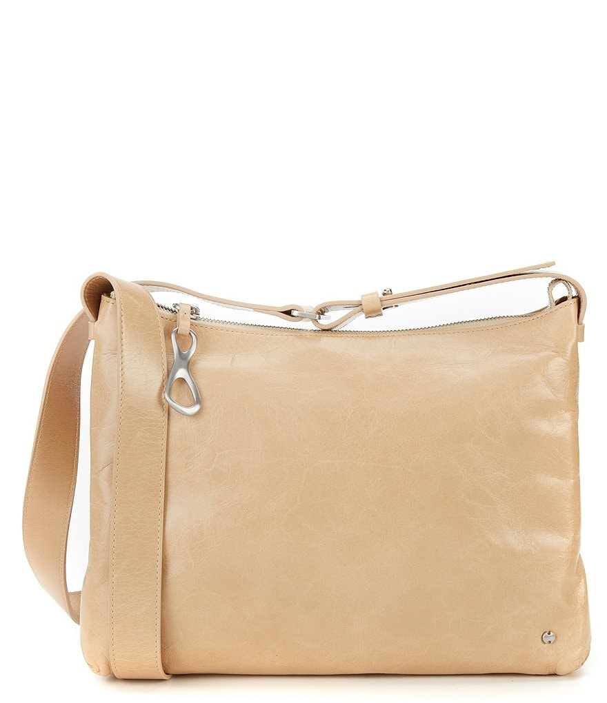 Halston Heritage Tina Glazed-Leather Cross-Body Bag