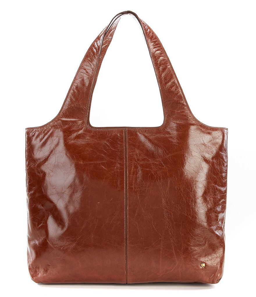 Halston Heritage Tina Glazed-Leather Tote