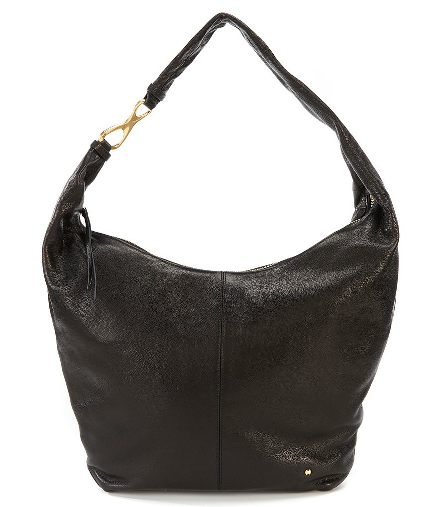 Halston Heritage Tina Shiny Embossed Hobo Bag