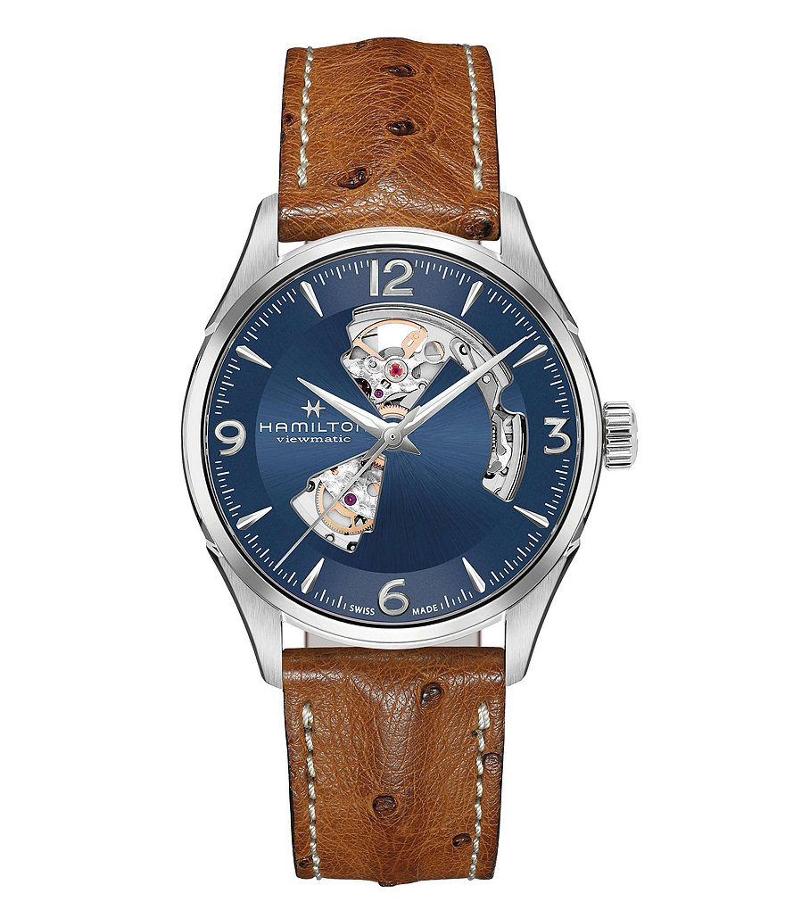 Hamilton Jazzmaster Open Heart Automatic Ostrich Leather-Strap Watch