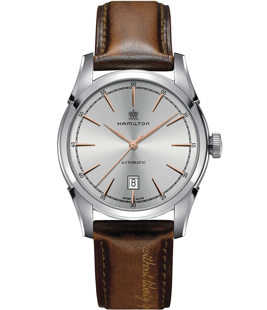 Hamilton Spirit of Liberty Automatic Leather-Strap Watch