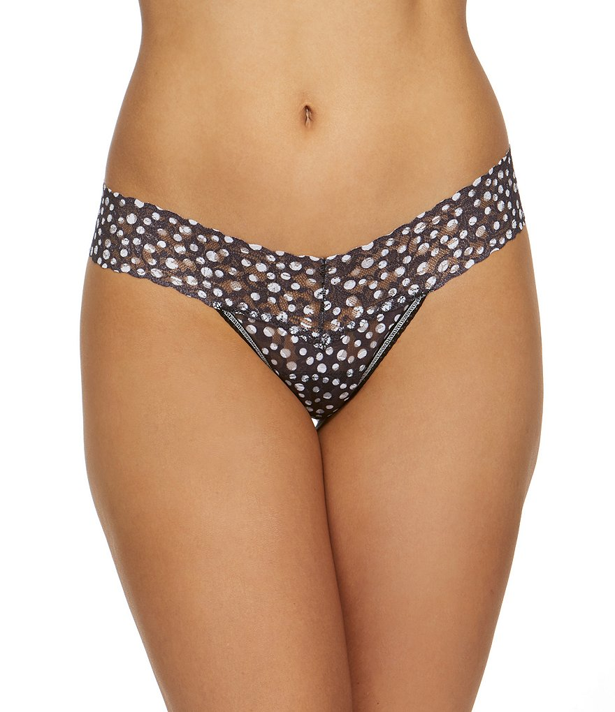 Hanky Panky Flurries Dotted Lace Low-Rise Thong