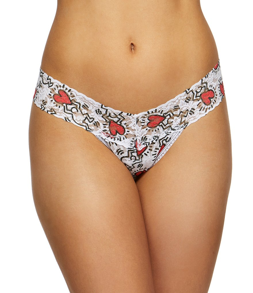 Hanky Panky Keith Haring Low-Rise Lace Thong