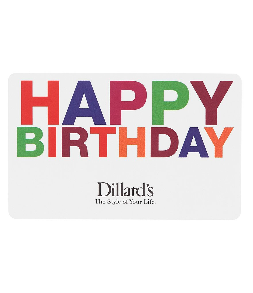 dillardshappy birthday illusion gift card - Happy Birthday Gift Card