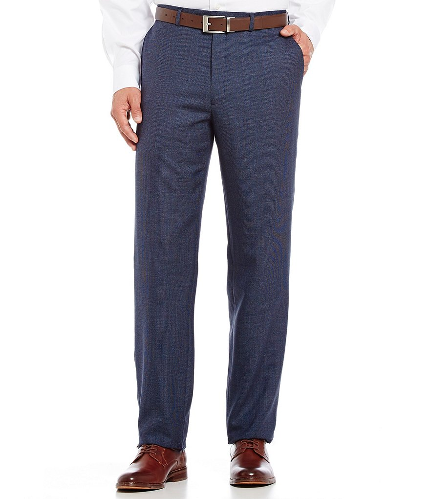 Hart Schaffner Marx Chicago Classic-Fit Flat Front Plaid Dress Pants