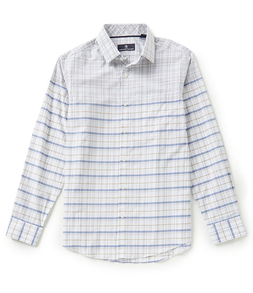 Hart Schaffner Marx Long-Sleeve Plaid Woven Shirt