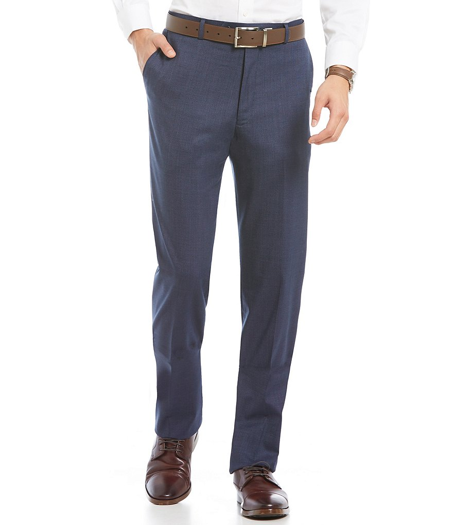 Hart Schaffner Marx Modern-Fit Flat Front Dress Pants