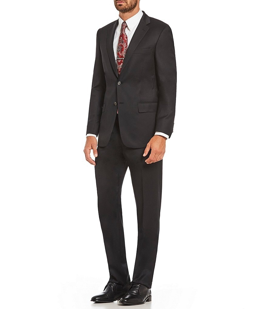 Hart Schaffner Marx Modern Fit Solid Wool Suit