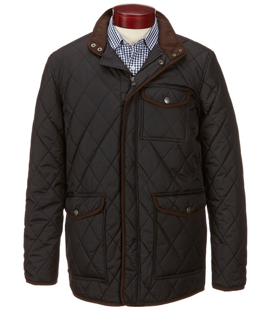 Hart Schaffner Marx Mulberry Quilted Barn Coat