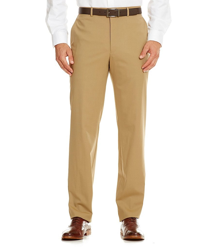 Hart Schaffner Marx New York Tailored Modern Fit Flat-Front Dress Pants