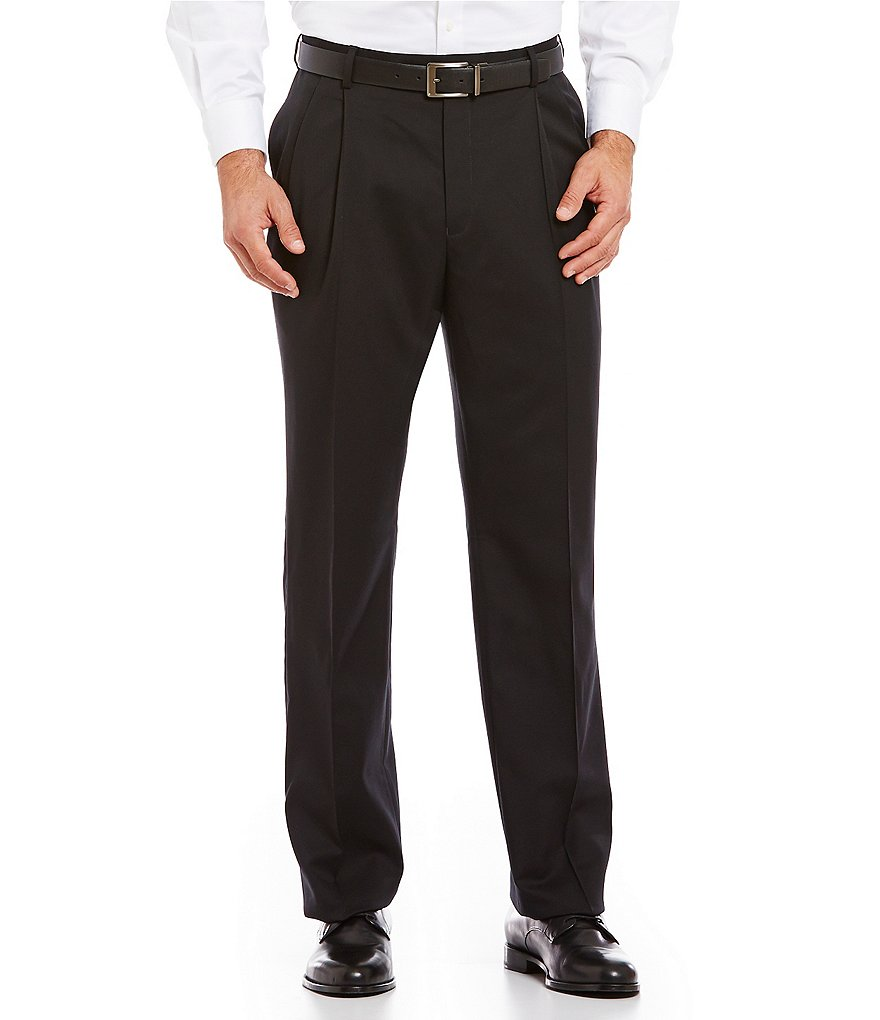 Hart Schaffner Marx Tailored Pleated Washable Wool Chicago Dress Pants