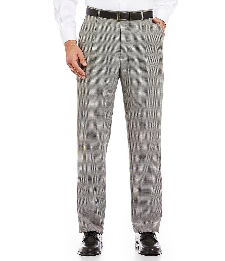 Hart Schaffner Marx Tailored Single-Pleat Chicago Houndstooth Dress Pants