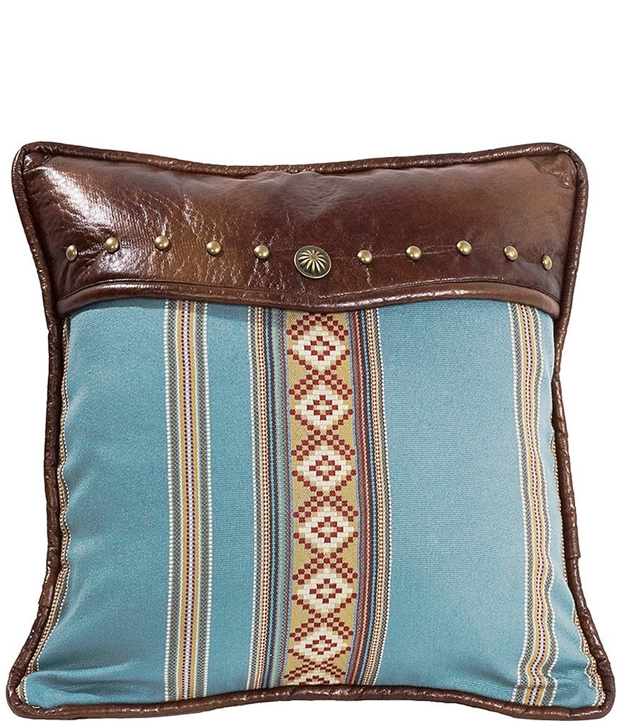 HiEnd Accents Blue Striped Pillow