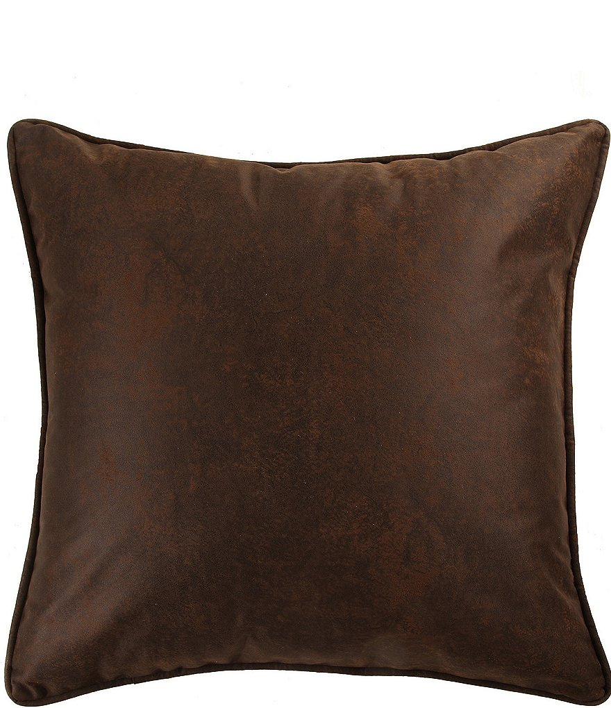HiEnd Accents Calhoun Faux-Leather & Faux-Suede Euro Sham