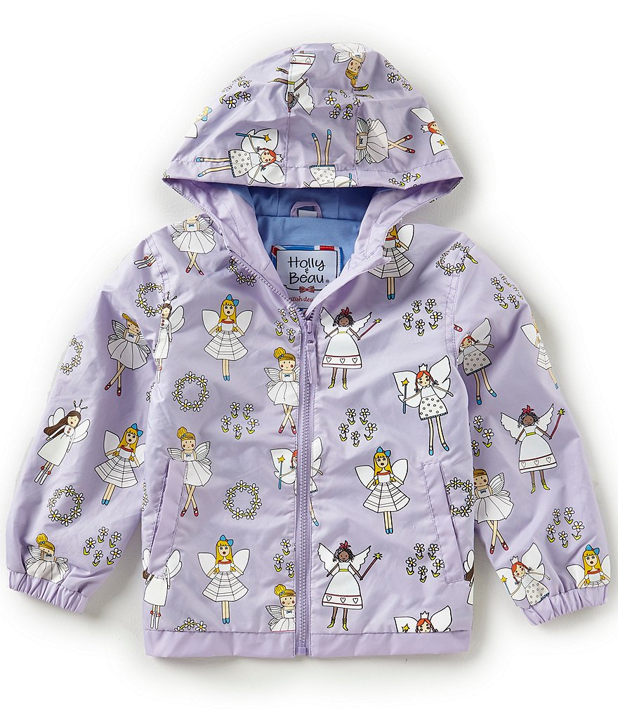 Holly & Beau Little Girls 2-8 Color-Changing Fairy Print Raincoat