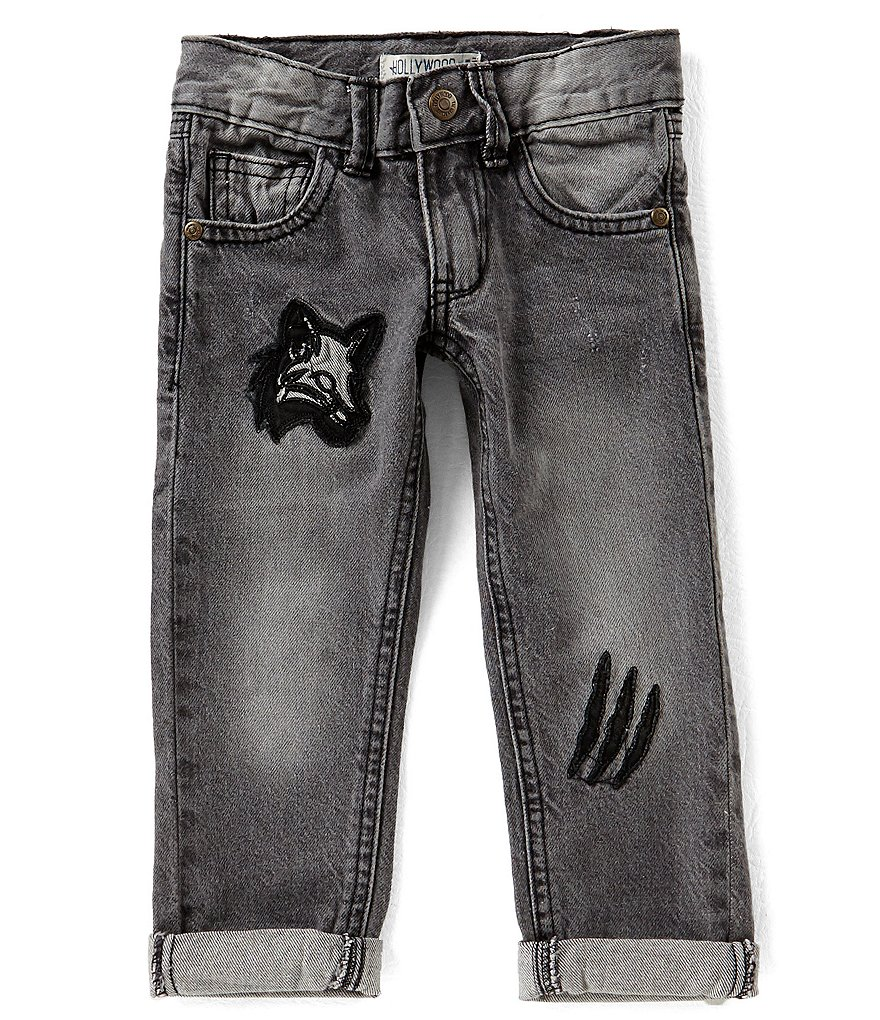 Hollywood Little Boys 2T-7 Destructed Denim Jeans