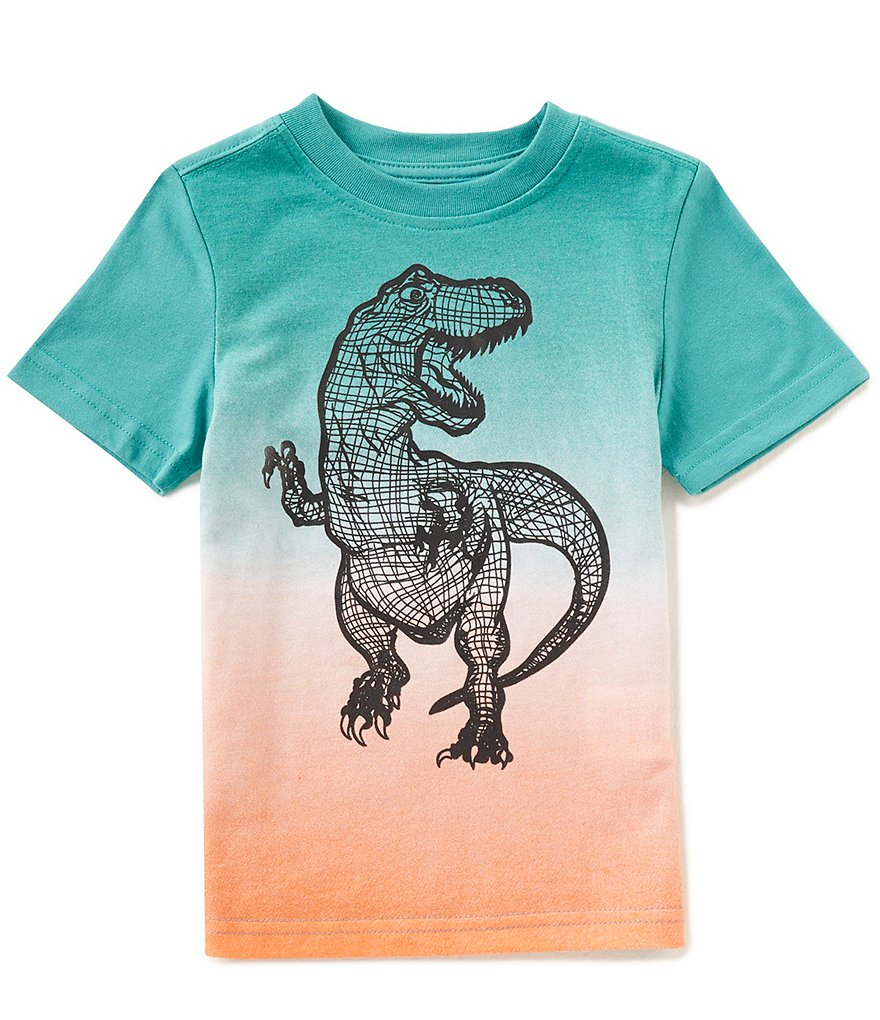 Hollywood Little Boys 2T-7 Short-Sleeve Ombre T-Rex Tee