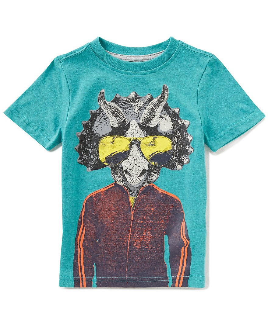 Hollywood Little Boys 2T-7 Short-Sleeve Triceratops Tee