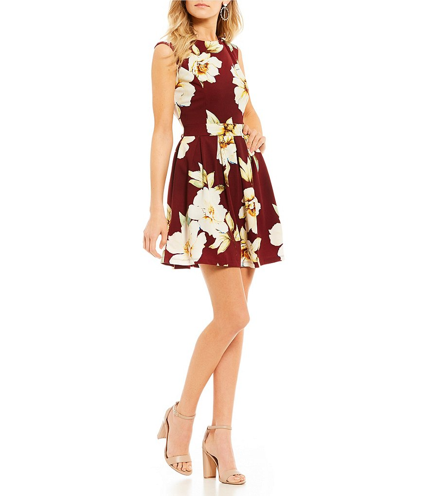 Honey and Rosie Floral Print Fit-And-Flare Dress