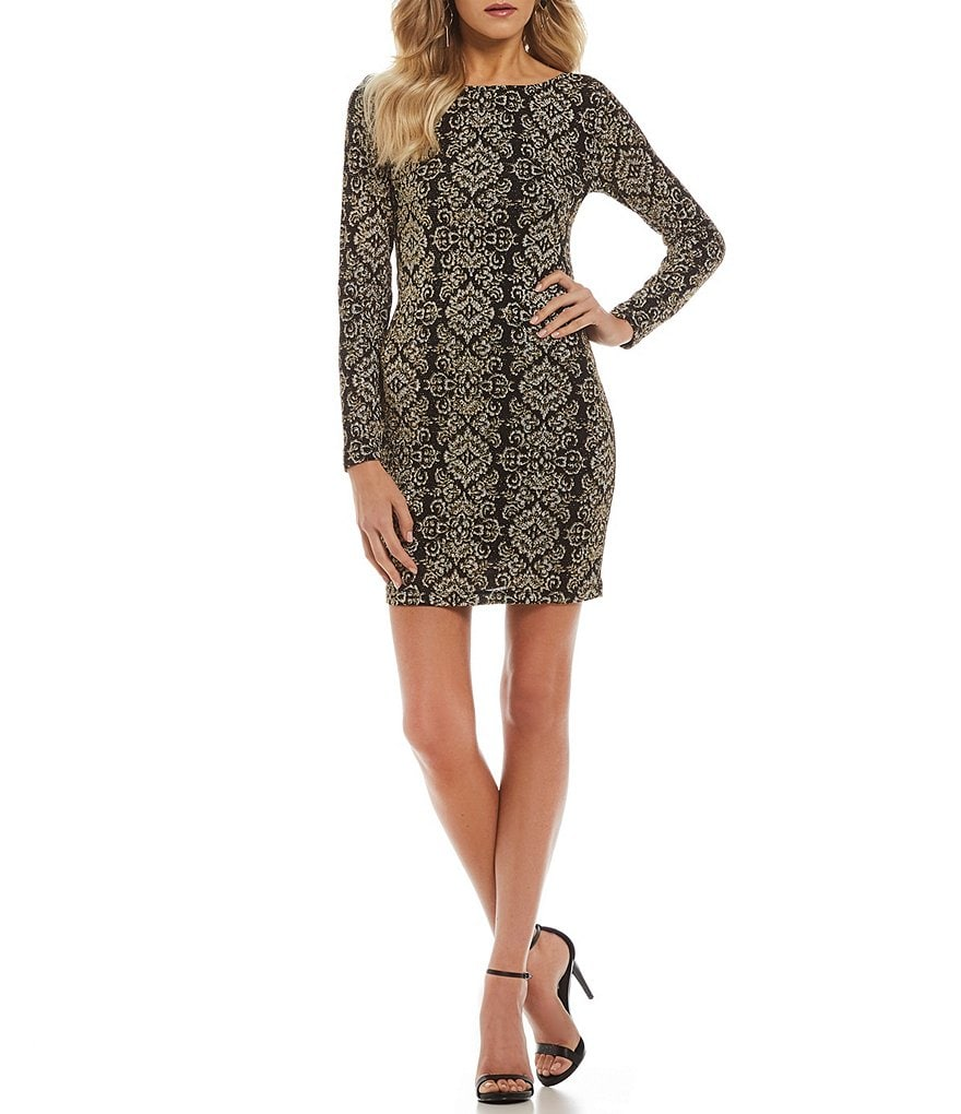 Honey and Rosie Patterned Knit Sheath Dress