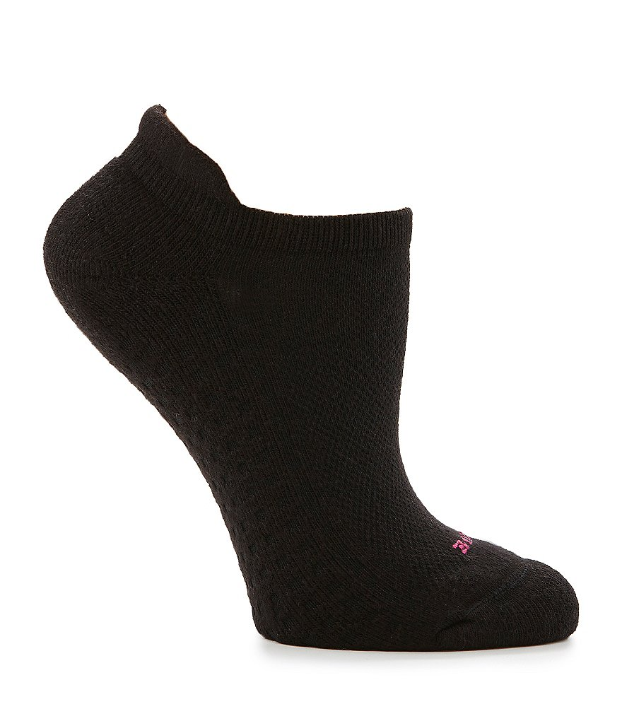 HUE Air Cushion Heel Tab Ventilation No-Show Socks, 3 Pack