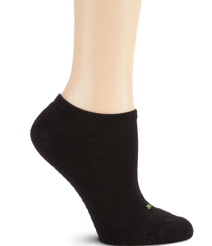 HUE Air Cushion Sport Mesh Top No-Show Socks 3-Pack