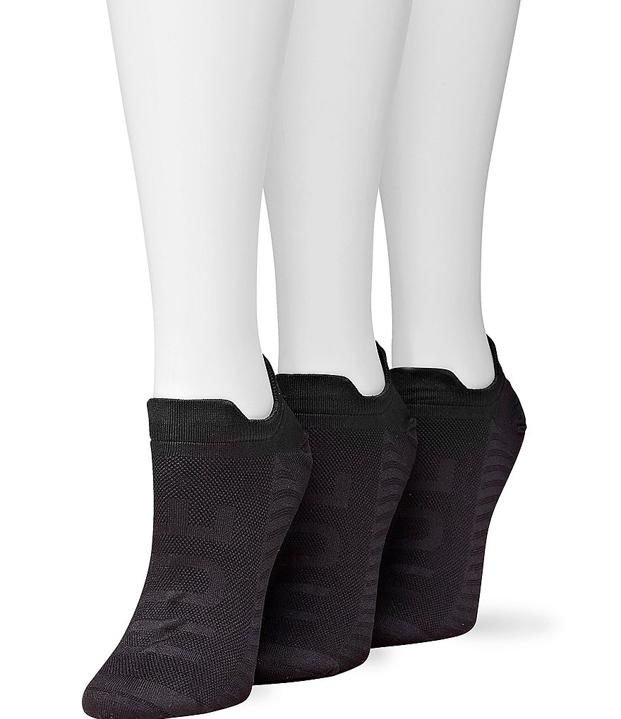 HUE Air Sleek Low Cut Front & Back Tab Socks 3 Pack
