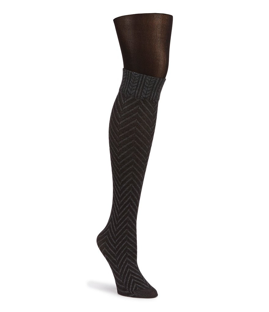 HUE Chevron Opaque Layered Tights