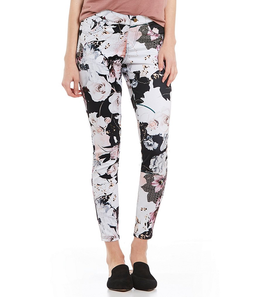ZEZA B Floral Essential Denim Legging