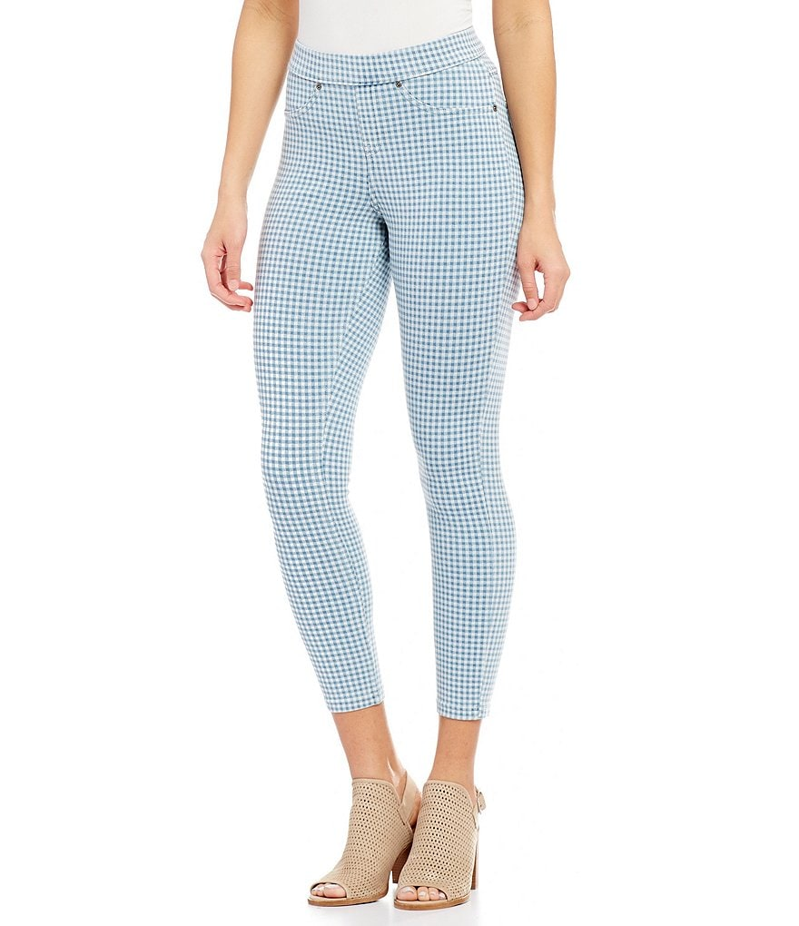 HUE Gingham Denim Skimmer Leggings