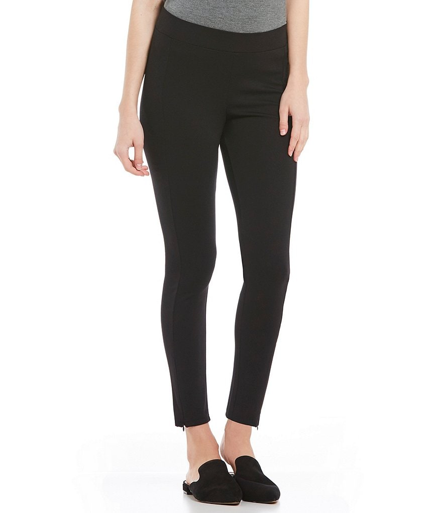 HUE Zippered Blackout Ponte Skimmer Leggings