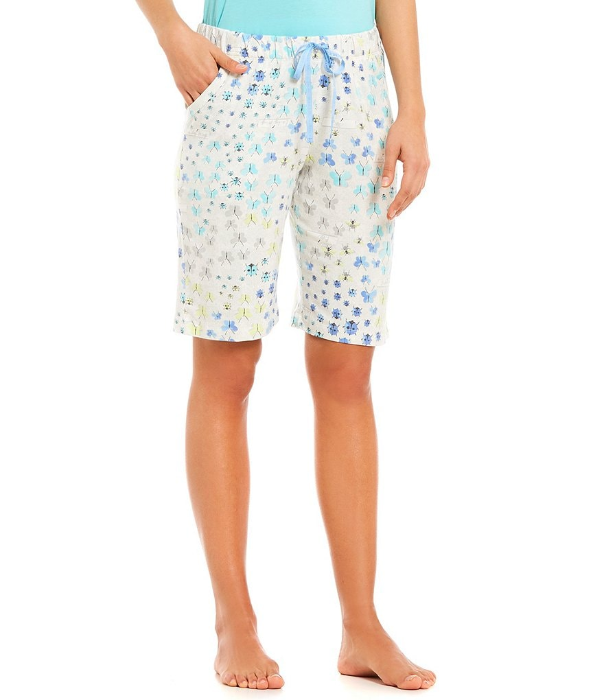 HUEtique Bug Collection-Print Bermuda Sleep Shorts
