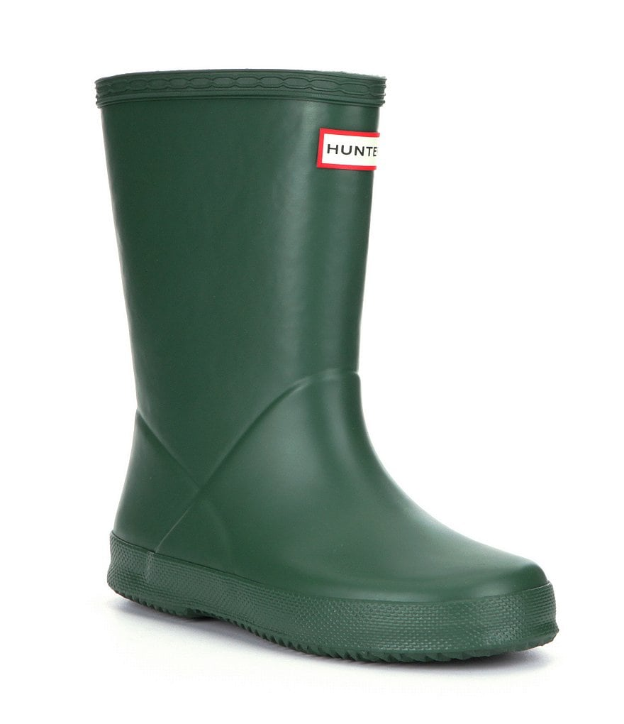Hunter Original First Matte Kids Waterproof Rain Boots