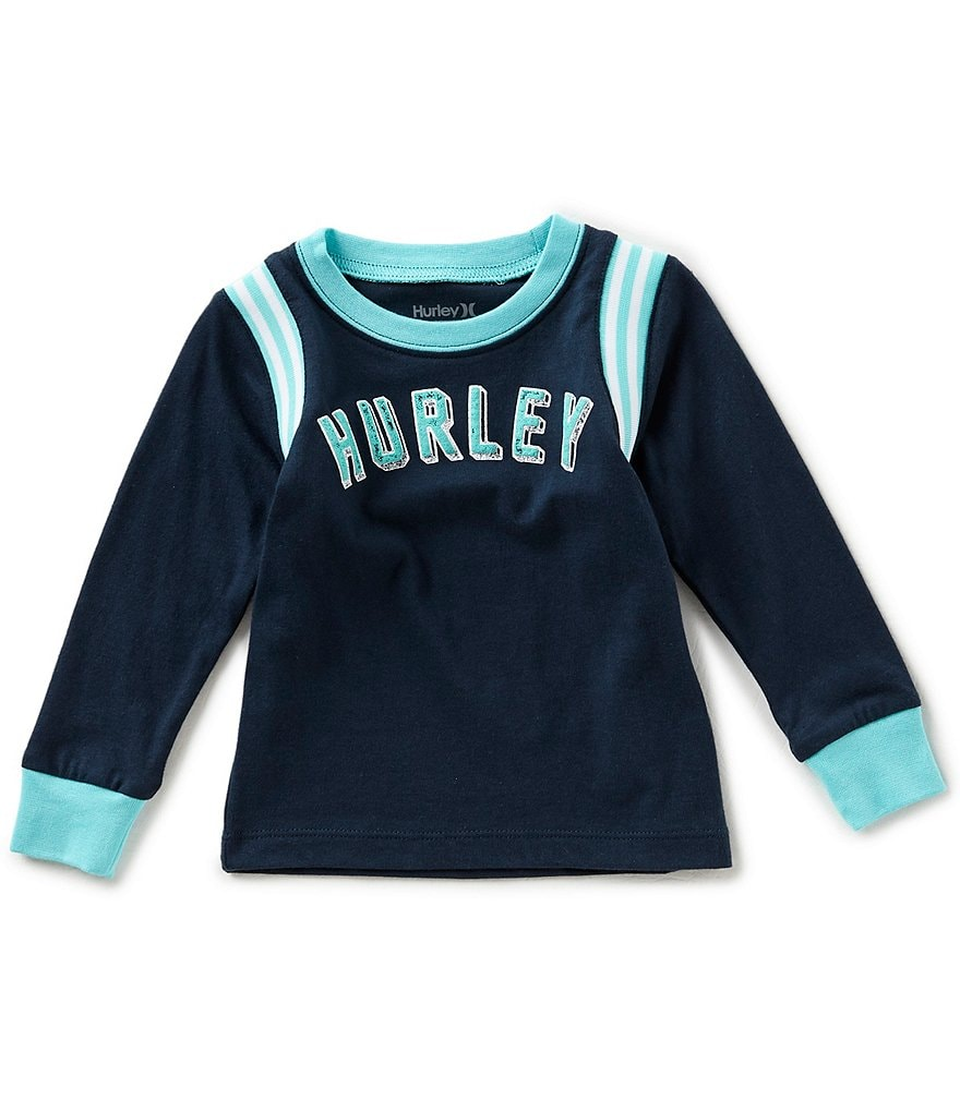 Hurley Baby Boys 12-24 Months Collegiate Knit Long-Sleeve Tee