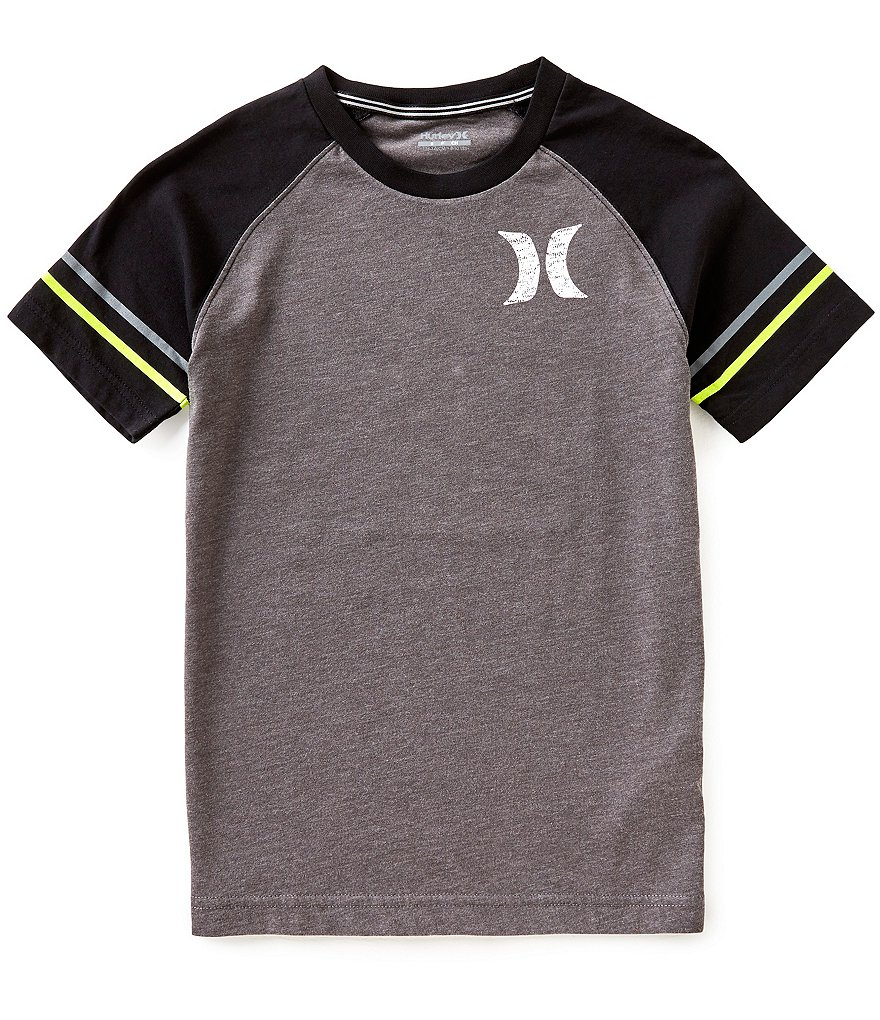 Hurley Big Boys 8-20 Athletic Raglan Short-Sleeve Tee