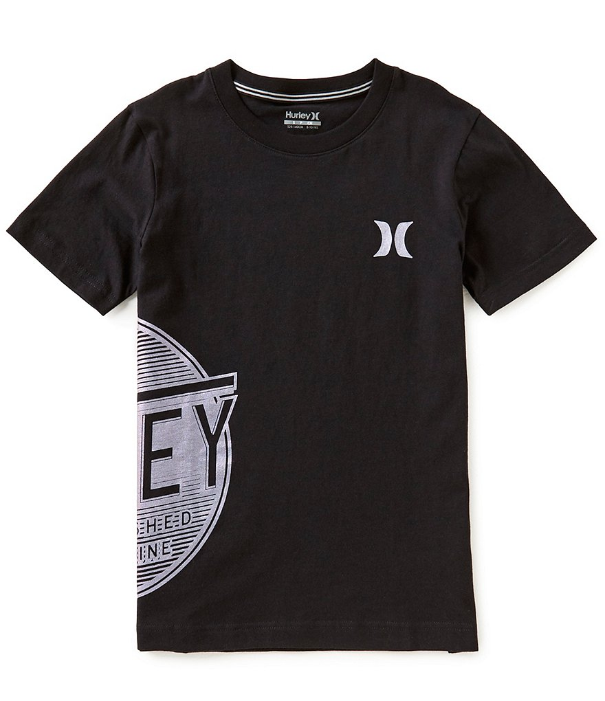 Hurley Big Boys 8-20 Logo Wrap Short-Sleeve Tee