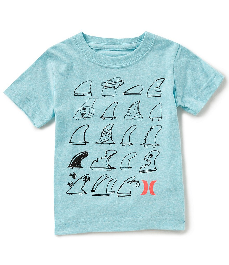 Hurley Little Boys 2T-4T Short-Sleeve Choose Your Fin Tee
