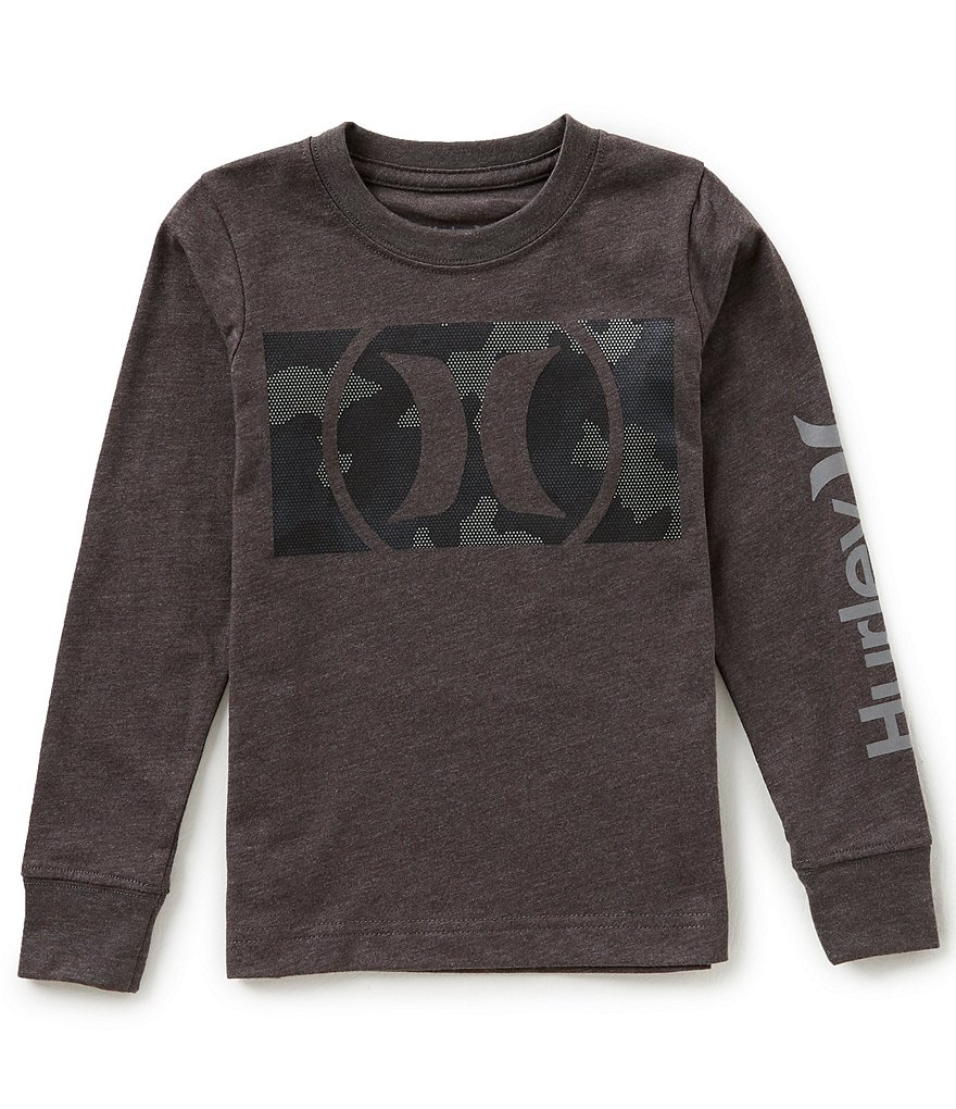 Hurley Little Boys 4-7 Long-Sleeve Camofill Tee