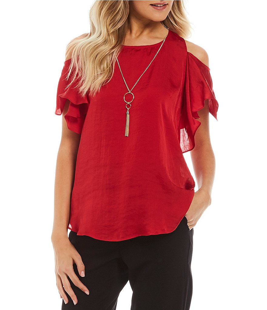 I.N. San Francisco Cold-Shoulder Top