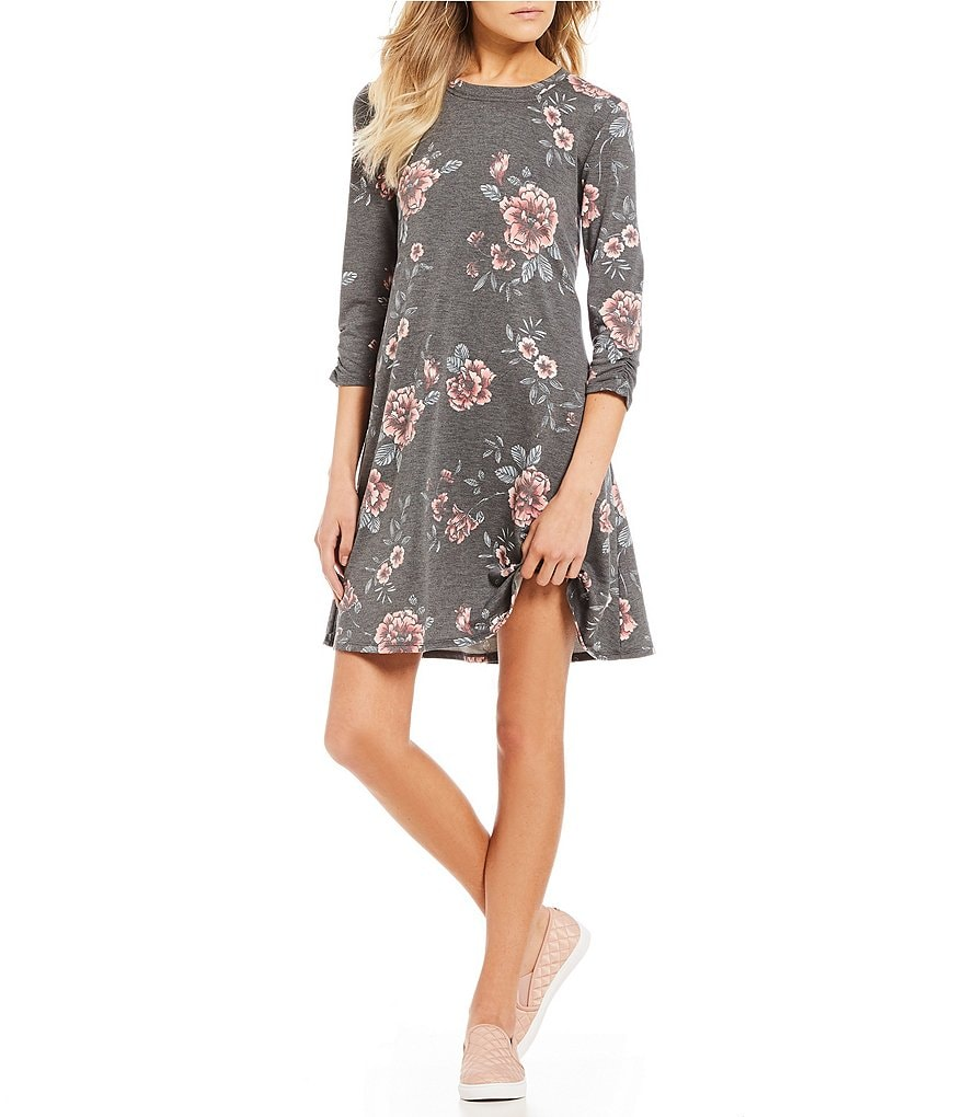 I.N. San Francisco Floral Print Swing Dress