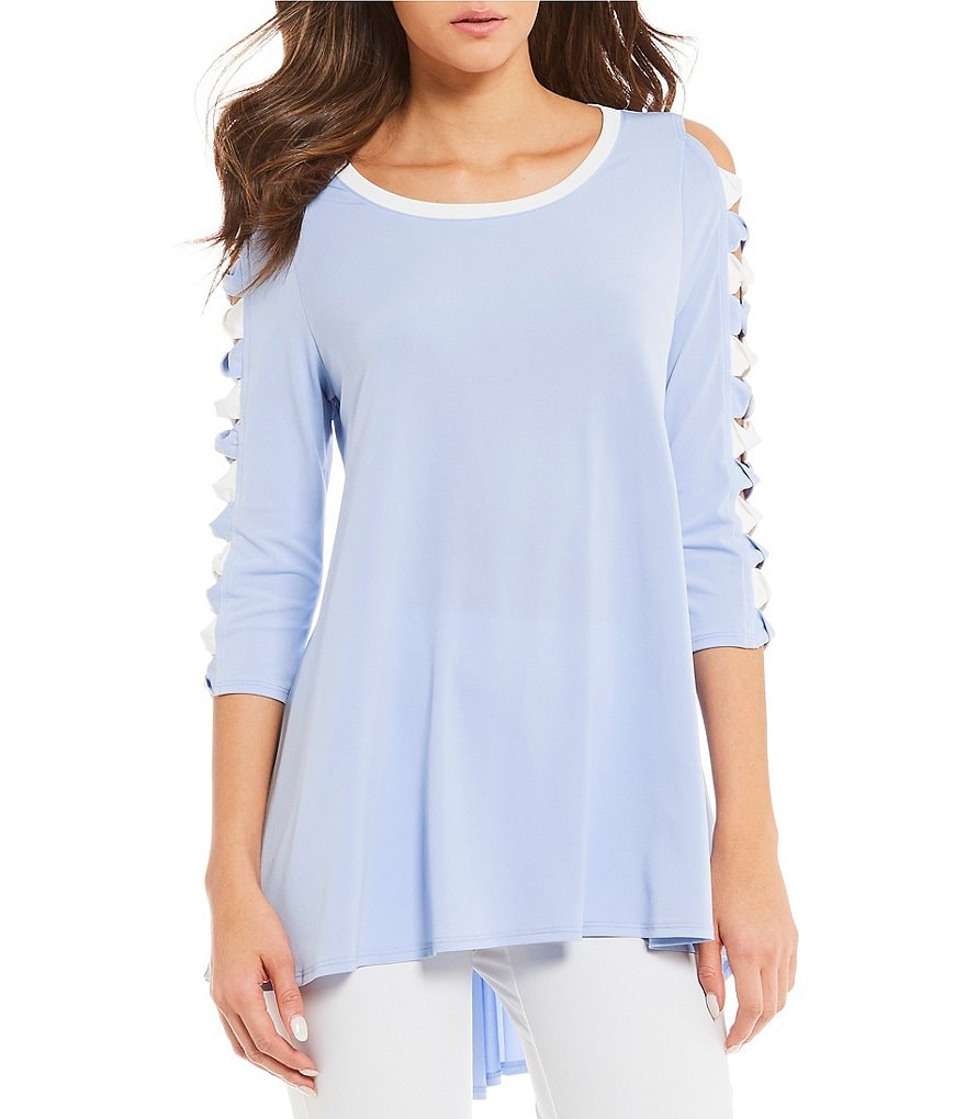 IC Collection Cutout Twist Bow Sleeve Tunic