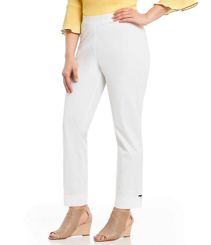 IC Collection Plus Pearl Detail Pull-On Pants