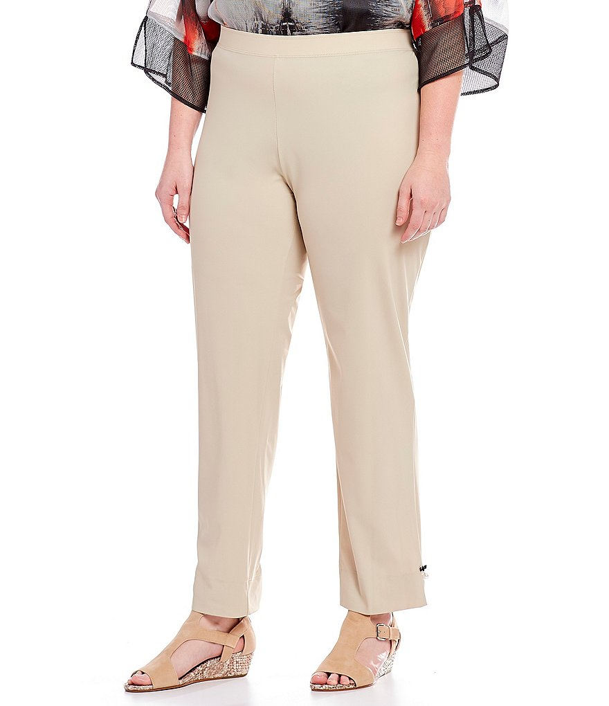 IC Collection Plus Pull-On Pearl Hem Detail Pants