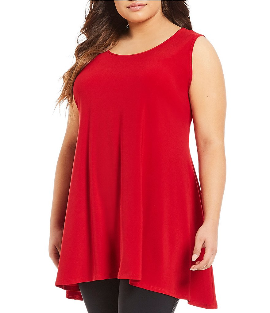 IC Collection Plus Round Neck Solid Tank