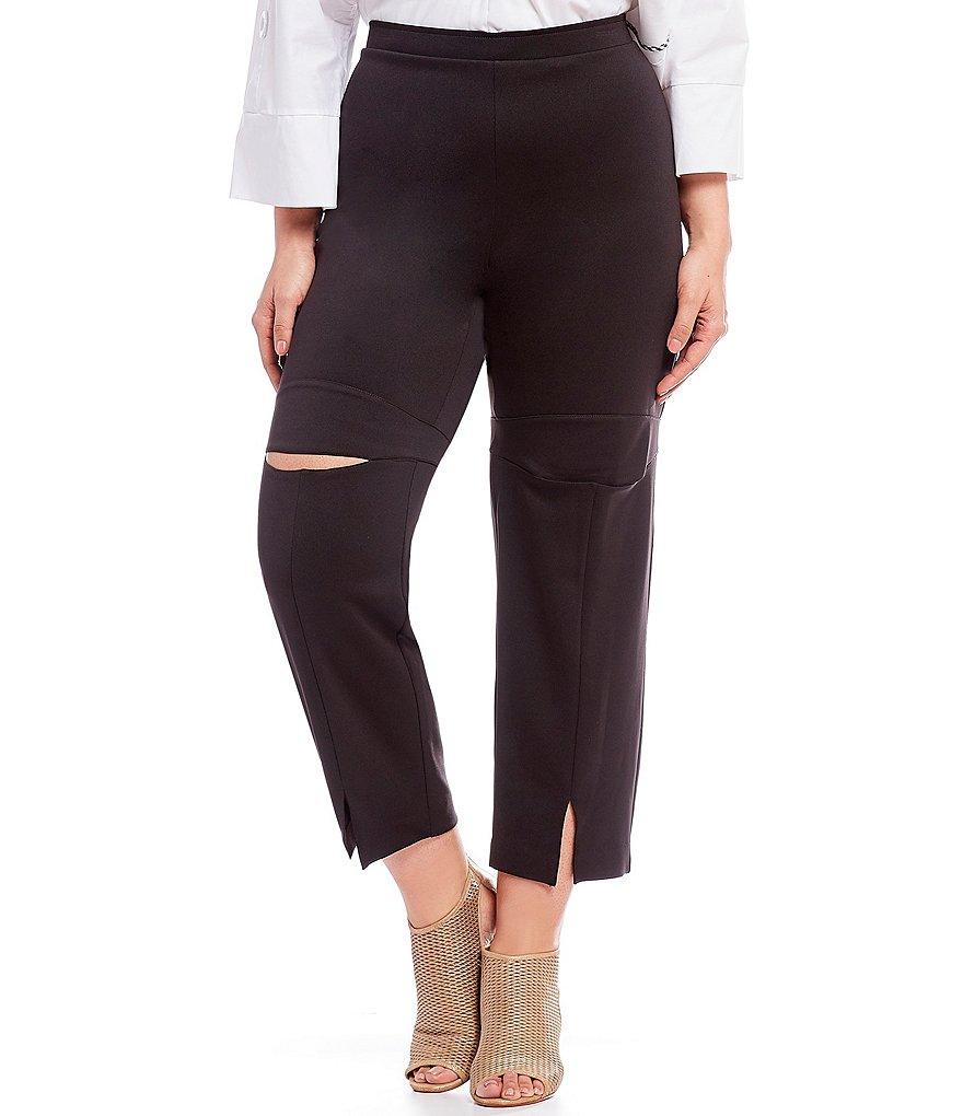 IC Collection Plus Slit-Front and Knee Techno Pants
