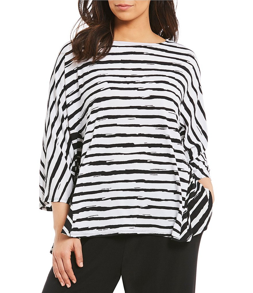 IC Collection Plus Stripe Short Top