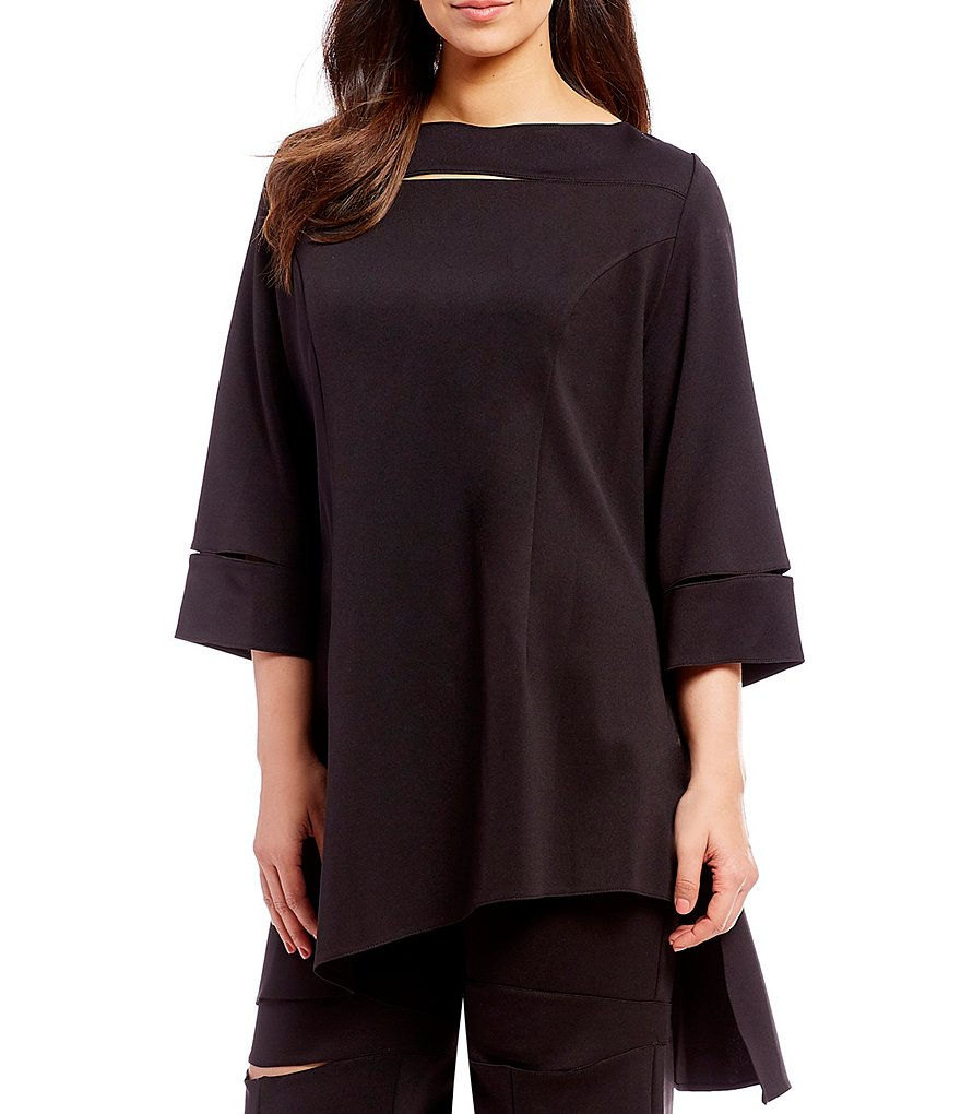 IC Collection Plus Techno Cutout Sleeve Detail Tunic