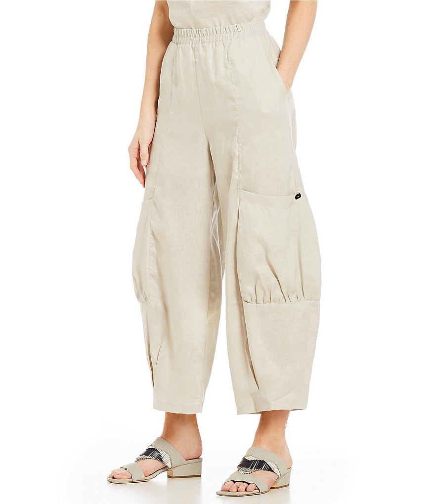 IC Collection Pull-On Linen Pants
