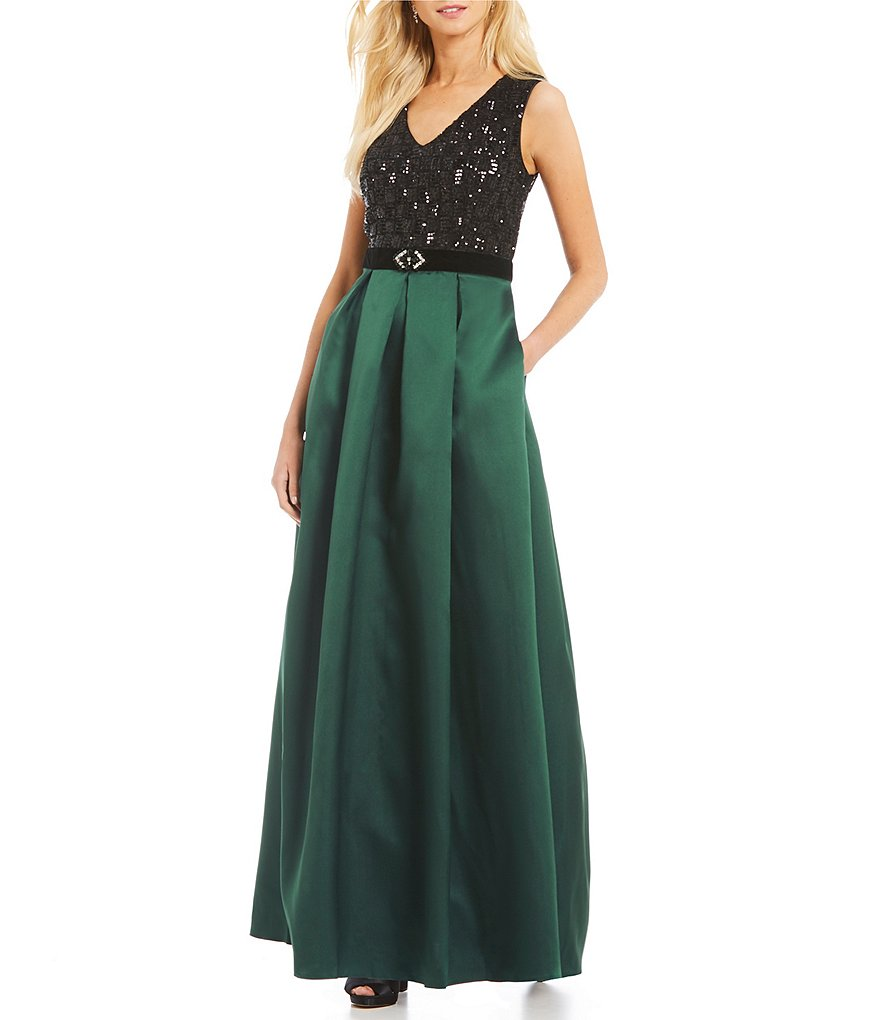 Ignite Evenings Sequin Mikado Gown