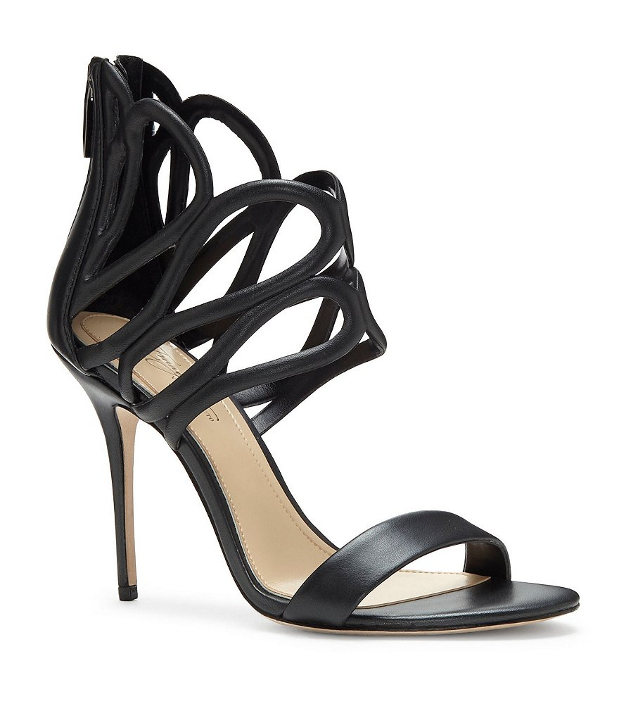 Imagine Vince Camuto Rile Pearlized Leather Dress Sandals